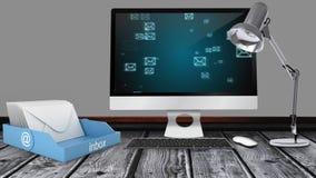 PECET ekranizuje pokazywać E-mailowy ikony wideo zbiory