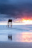 Pecherie fishing hut at sea Royalty Free Stock Photo