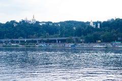 Pechersk Lavra, Dnieper, Kyev Foto de archivo