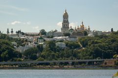 Pechersk Lavra in the summer sun royalty free stock images