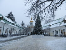 Pechersk Lavra in winter.  Royalty Free Stock Photos