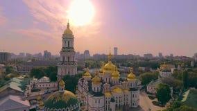 pecherskaya ukraine för lavra för antagandedomkyrkakiev kievo arkivfilmer