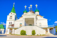 Pechersky ascension monastery in Nizhny Novgorod Royalty Free Stock Photo