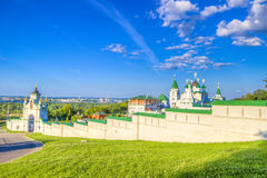 Pechersky ascension monastery in Nizhny Novgorod Royalty Free Stock Photos