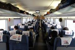 Pechino alla ferrovia ad alta velocità di Shanghai in Cina Immagine Stock