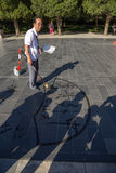 Pechino Calligrafo cinese anziano Immagine Stock