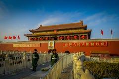 PECHINO, CINA - 29 GENNAIO 2017: Bella costruzione del tempio dentro la Città proibita, architettura cinese antica tipica Immagine Stock