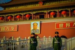 PECHINO, CINA - 29 GENNAIO 2017: Bella costruzione del tempio dentro la Città proibita, architettura cinese antica tipica Fotografie Stock