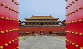 Pechino, Cina - 16 maggio 2018: Palazzo di Gugong la Città proibita fotografie stock