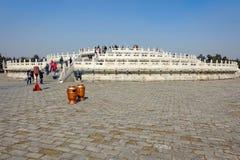 PECHINO, CINA - 14 MARZO 2016: Turisti che visitano la circolare Immagini Stock Libere da Diritti