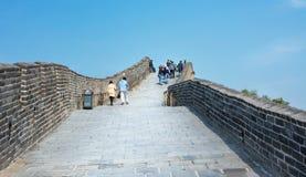 PECHINO, CINA, 29 SETTEMBRE, 2016: Turisti che camminano sul Grea Fotografie Stock Libere da Diritti