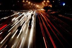Pechino fuxingmen la parte di notte Immagini Stock