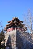 Pechino il posto di guardia imperiale del palazzo Fotografia Stock
