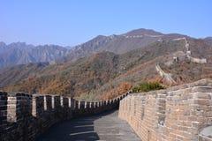 Pechino la grande muraglia di Mutianyu Fotografia Stock Libera da Diritti