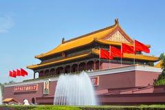 Pechino, piazza Tiananmen, la Città proibita Immagini Stock Libere da Diritti