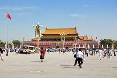 Pechino, piazza Tiananmen, la Città proibita Fotografia Stock
