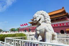 Pechino, piazza Tiananmen, la Città proibita Immagine Stock Libera da Diritti