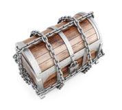 Pecho con la opinión superior de las cadenas 3D rinden imagen sobre el backgroun blanco Fotografía de archivo