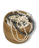 Pecho con las perlas foto de archivo libre de regalías