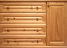 Pecho de cajones de madera Foto de archivo libre de regalías