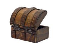 Pecho de madera antiguo Foto de archivo libre de regalías