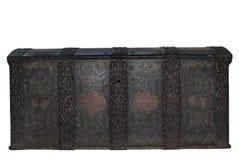 Pecho de madera bloqueado antiguo Imágenes de archivo libres de regalías