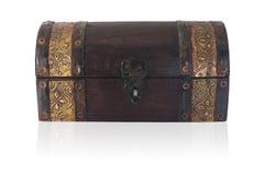 Pecho de madera cerrado Imagen de archivo libre de regalías
