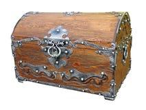 Pecho de madera de la vendimia pirática aislado Imágenes de archivo libres de regalías