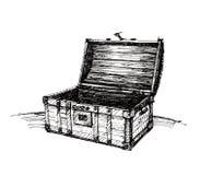 Pecho de madera del vintage Imágenes de archivo libres de regalías