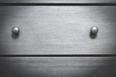 Pecho de madera de la textura del fondo con las manijas fotografía de archivo libre de regalías