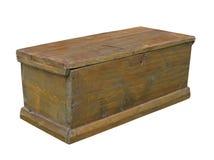 Pecho de madera rústico llano viejo aislado. Fotos de archivo libres de regalías