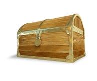 Pecho de madera viejo Imagen de archivo libre de regalías