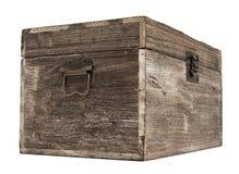 Pecho de madera viejo Imágenes de archivo libres de regalías