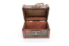 Pecho de madera viejo Foto de archivo libre de regalías