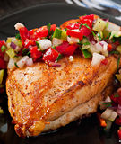 Pecho de pollo asado a la parilla Foto de archivo libre de regalías