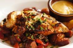Pecho de pollo cocido al horno Imagen de archivo libre de regalías
