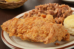 Pecho de pollo frito Imagenes de archivo