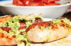 Pecho de pollo relleno Foto de archivo libre de regalías