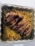 Pecho de pollo relleno foto de archivo