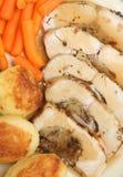 Pecho de pollo relleno carne asada fotografía de archivo libre de regalías