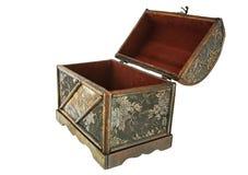 Pecho de tesoro aislado, abierto Imágenes de archivo libres de regalías