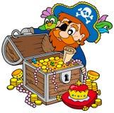 Pecho de tesoro de la apertura del pirata libre illustration
