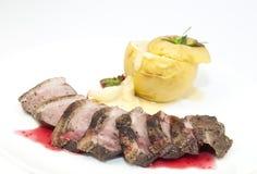 Pecho del ganso de la carne asada Foto de archivo