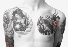 Pecho del tatuaje Fotos de archivo