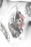 Pecho del tatuaje imagen de archivo libre de regalías