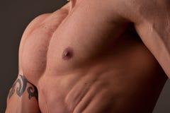 Pecho masculino muscular foto de archivo