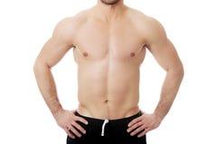Pecho masculino muscular atractivo Fotos de archivo libres de regalías