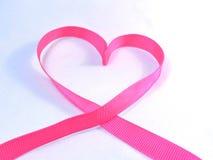 Pecho, símbolo del cáncer del corazón/día Imagenes de archivo