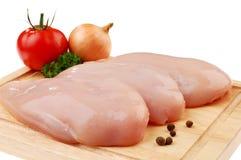 Pechos de pollo sin procesar frescos imagen de archivo