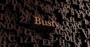 Pechugón - 3D de madera rindió las letras/mensaje ilustración del vector